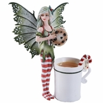 Christmas Fairy with Cup & Cookie