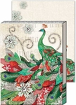 Christmas Peacock Note Pad
