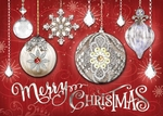 Crystal Ornaments Christmas Cards