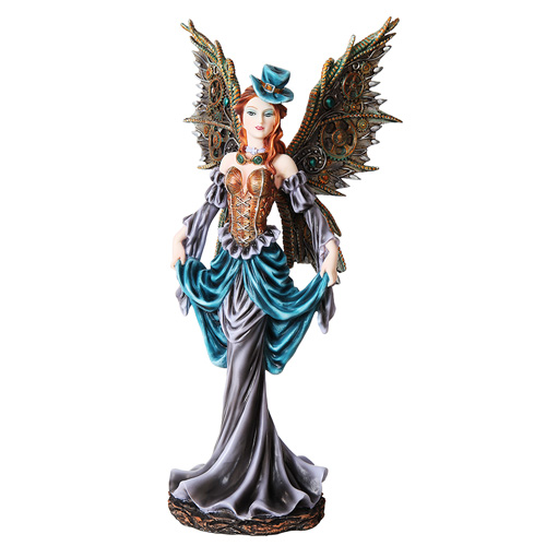 Ring In The Steampunk Decor To Pimp Up Your Home: Curtsying Steampunk Fairy Figurine: Steampunk Gifts