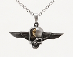Cyborg Skull Wings Necklace
