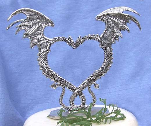 Dragon Heart Cake Topper
