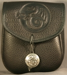 Dragon Leather Belt Pouch (Medium)