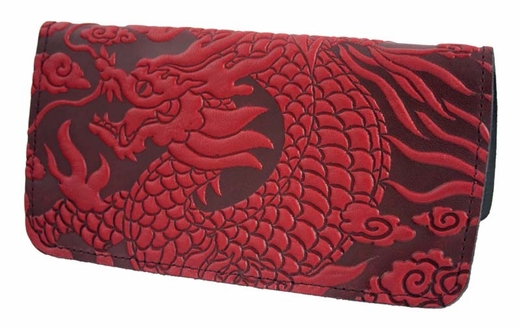 Dragon Leather Check Book Cover