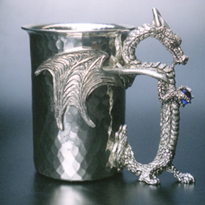 Dragon Mystic Hammered Pewter Stein