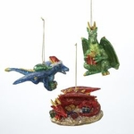 Dragon Ornaments (Set of 3)