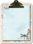 Dragonfly Clipboard & Notepad Set
