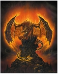 'Harbinger of Fire' Large Print <br>by Ed Beard Jr