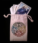 Elemental Pentacle Dice & Tarot Bag