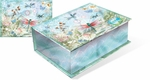 Enchanted Dragonfly Metallic Cigar Box Note Cards