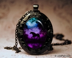 Enchanted Unicorn Oval Necklace