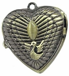 Engraved Heart Pocket Watch Necklace