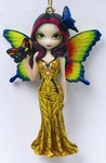 Fairy with Butterfly Mask Ornament