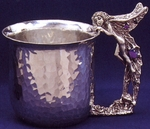 Fairy Hammered Pewter Cup