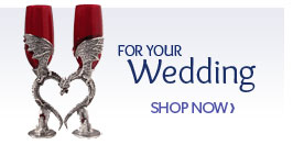 Fantasy Wedding Glasses and Cake Toppers