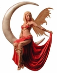 Fire Moon Fairy Ornament