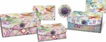 Floraculture Small Nesting Embellished Flap Boxes