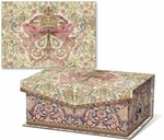 Floral Butterfly Crown Notecards in Keepsake Music Box