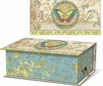Floral Butterfly Music Box with Verbena Soap
