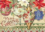 Folk Ornaments Christmas Cards