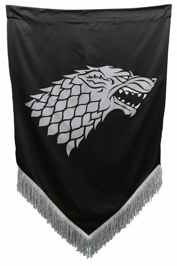 Fringed Stark War Banner - Game of Thrones