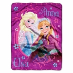 Loving Sisters Frozen Plush Throw Blanket