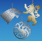Game of Thrones House Sigil Ornament Set
