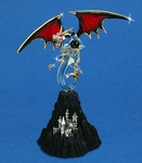Glass Black Magic Dragon