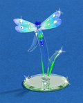 Glass Dragonfly on a Reed