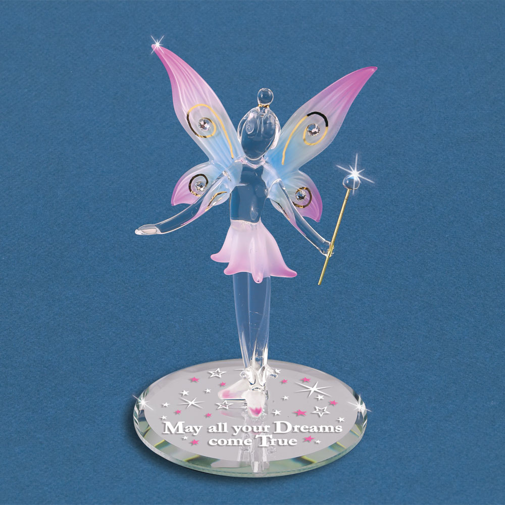 Glass Fairy Figurine Quot May All Your Dreams Come True