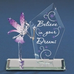 Glass Fairy with Plaque