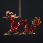 Glass Oriental Dragon Ornament