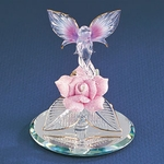 Glass Pink Rose Fairy
