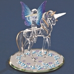 Glass Unicorn with Fairy