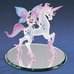 Glass Unicorn with Lily Fairy
