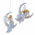 Glittered Moon Fairy Ornament Set