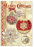 Gold n' Red Ornaments Christmas Cards