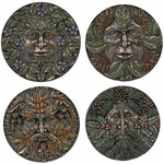 Greenman 4 Seasons <BR>Wall Plaque Set