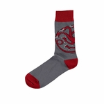 Grey Targaryen Sigil Socks: Game of Thrones