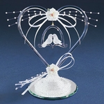 Heart with Doves & Pearls Cake Topper