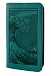 Hokusai Wave Leather Smart Phone Wallet
