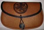 Hound Circle Wide Leather Belt Pouch