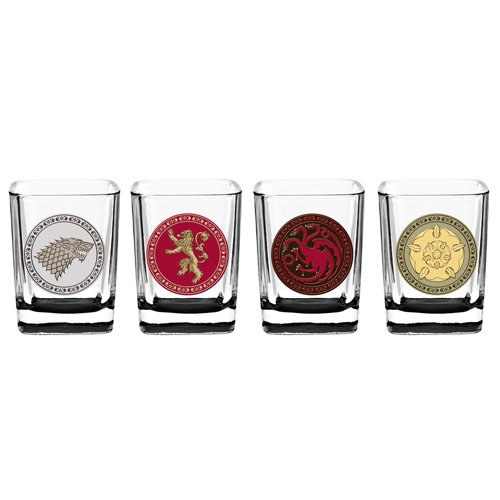 House Crest Shot Glass Set: Game of Thrones
