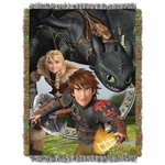 How To Train Your Dragon Tapestry Throw