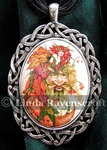 Lady Autumn & Green Man Necklace