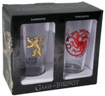 Lannister & Targaryen Pint Glass Set: Game of Thrones
