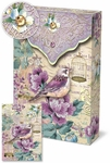 Lilac Birdie Decorative Pouch Note Cards
