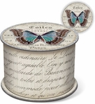 Linen Butterfly Soap in Spool Box