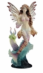 Lionfish Mermaid with Seahorse Dragon