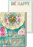 Lovely Letters Brooch Mini Notepad